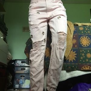 brand new w/tags forever 21 pink boyfriend jeans